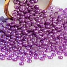 Acrylic Flat back Half Pearls - 3 4 5 6 8 & 10mm LIGHT CADBURY purple